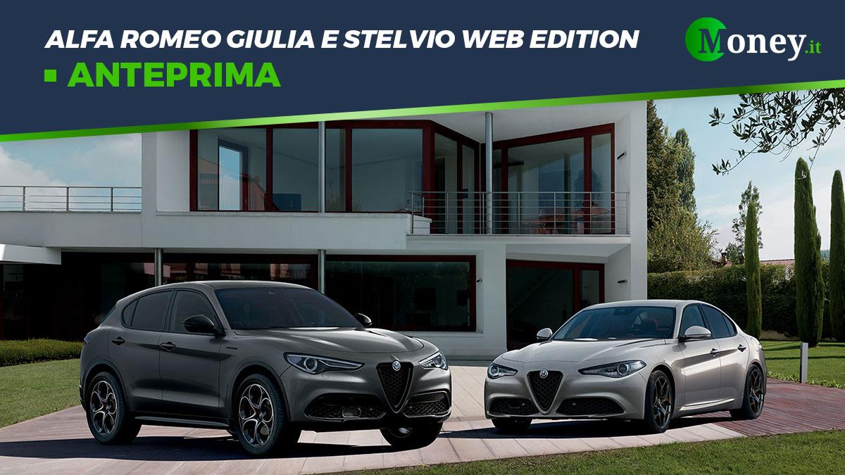 Alfa Romeo Giulia e Stelvio Web Edition: prezzi, foto e caratteristiche