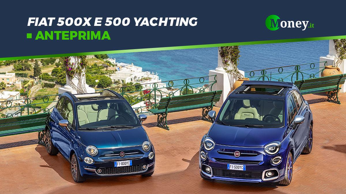 Fiat 500 e 500X: allestimento Yachting per berlina e SUV