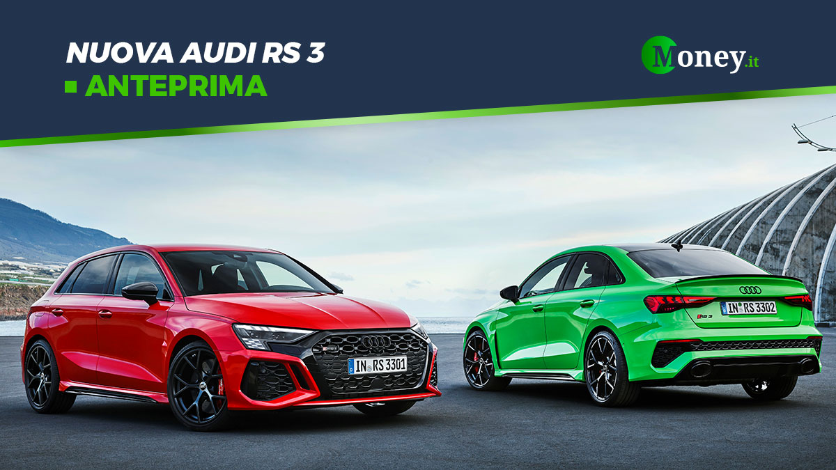 Nuova Audi RS 3: foto, motore, prezzo, prestazioni