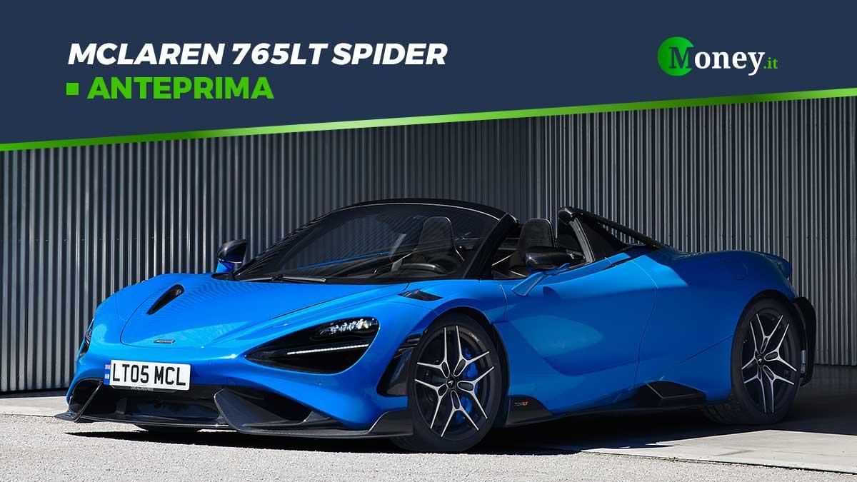 McLaren 765LT Spider: prezzo, foto e prestazioni
