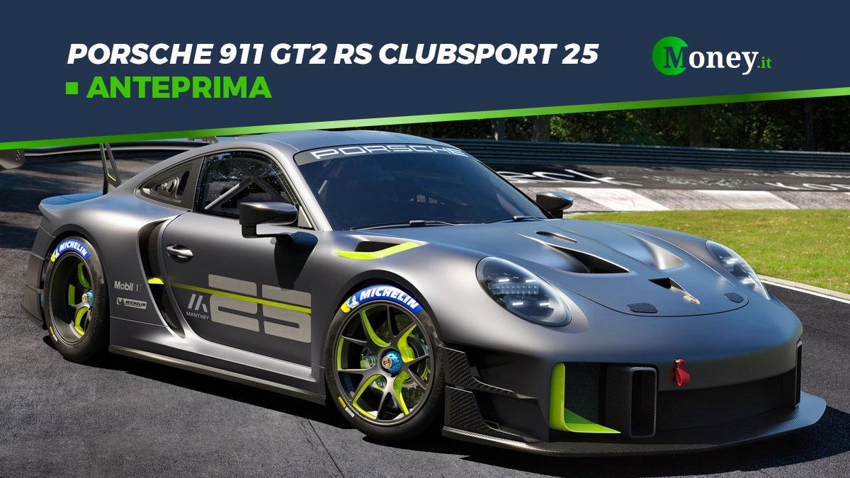 Porsche 911 GT2 RS Clubsport 25: foto, motore, prezzo