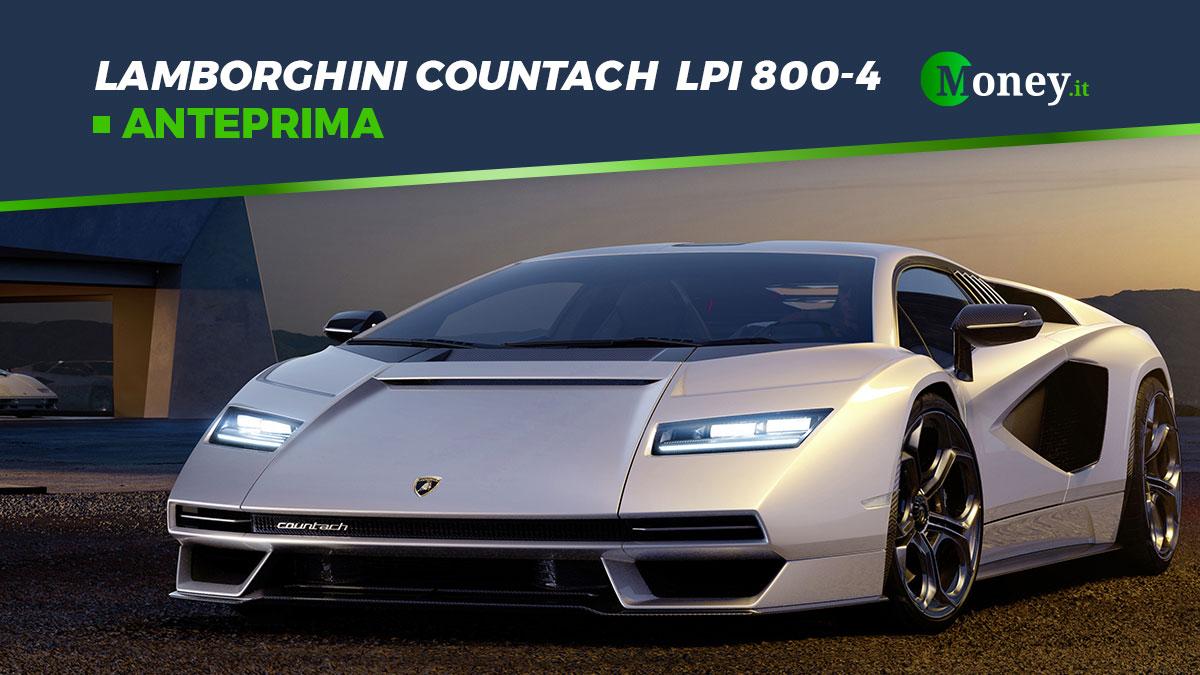Lamborghini Countach LPI 800-4: foto, motore, prestazioni