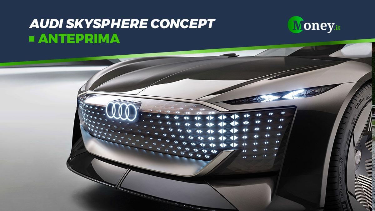 Audi skysphere concept: l'auto elettrica del futuro
