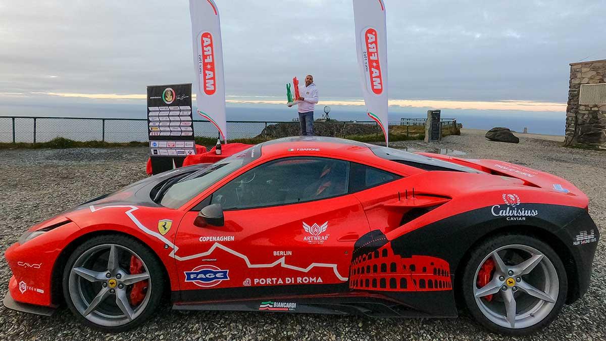 Ferrari Guinness World Record 2021: Fabio Barone vince la sfida con Google Maps