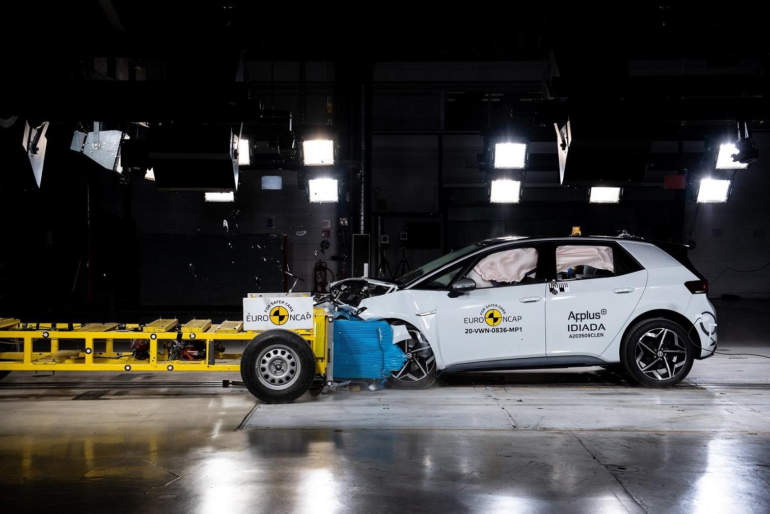 Volkswagen ID.3: 5 stelle nei crash test di Euro NCAP