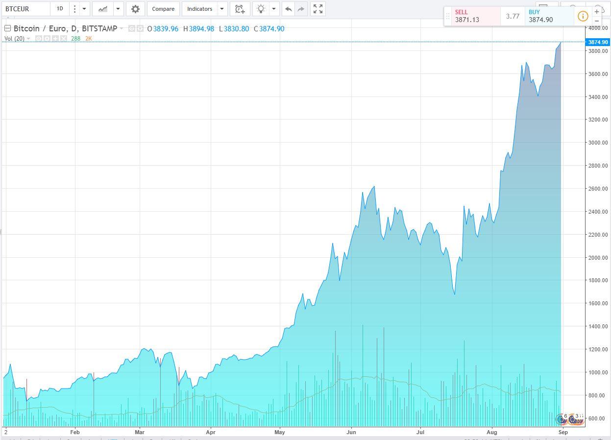 bitcoin grafico in tempo reale