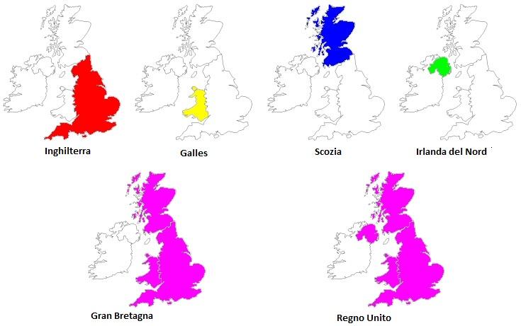 Cartina Geografica Inghilterra E Scozia.Differenza Tra Regno Unito Gran Bretagna E Inghilterra