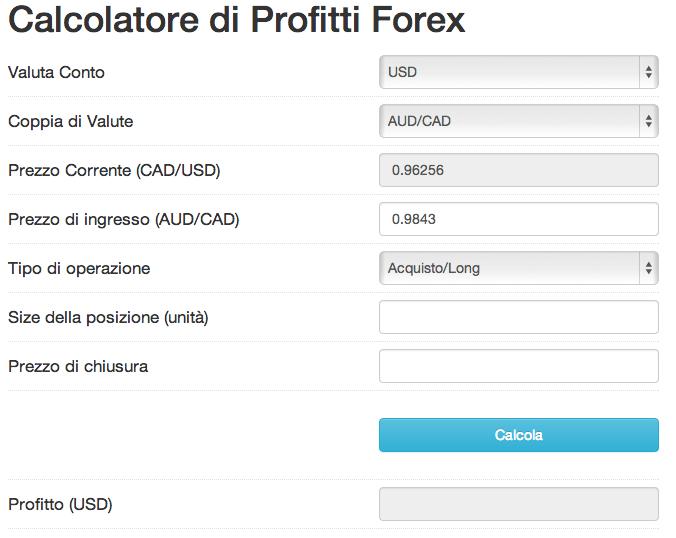 Forex calcolare il valore di 1 pip dello stop loss e del for Calcolatore del prezzo della costruzione domestica