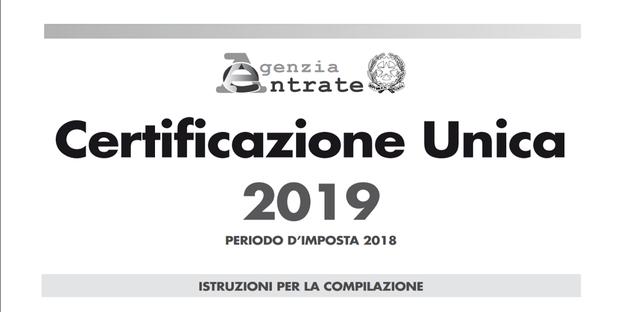 Cu 2019 Modello Certificazione Unica Scadenza E Istruzioni