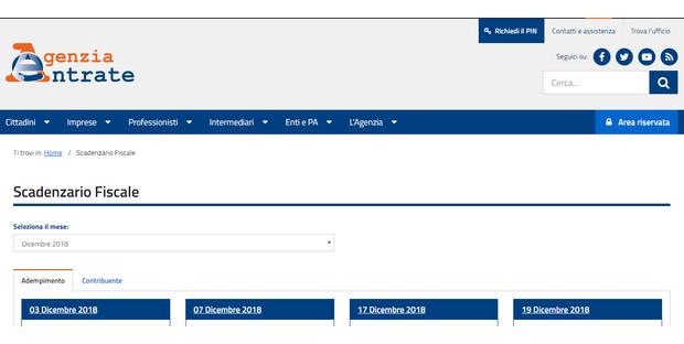277c62ef9d Scadenze fiscali dicembre 2018