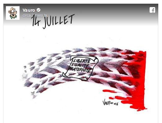 Vignetta sul terremoto Critiche a Charlie Hebdo