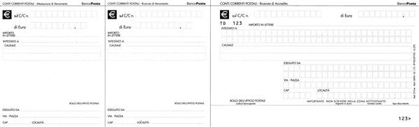 bollettino postale per passaporto