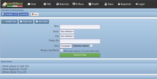 siti di incontri o chat room