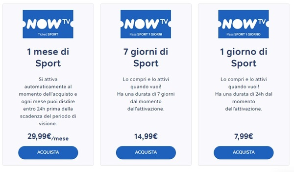 Now Tv Serie A 2019 2020 In Streaming Prezzo Abbonamento