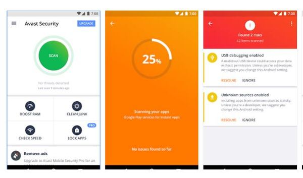 Avast Antivirus Description: Protect against viruses & other types of malware with  Avast Mobile Security, the world's most trusted free antivirus app for Android. Protect your privacy by receiving alerts when spyware or adware-infected apps are downloaded onto your device.