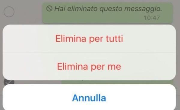 Whatsapp come cancellare i messaggi inviati di cui ti sei - Instagram messaggio letto ...