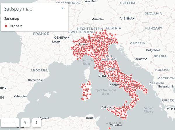 ee525be0f99cca Scopri sul sito la mappa delle attività commerciali che accettano pagamenti  con Satispay.