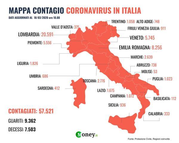 Cartina Italia Economica.Coronavirus Italia La Mappa Dei Contagi