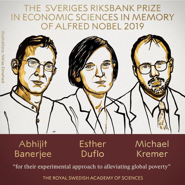 Premio Nobel Economia 2019: chi sono i vincitori Banerjee, Duflo e Kremer
