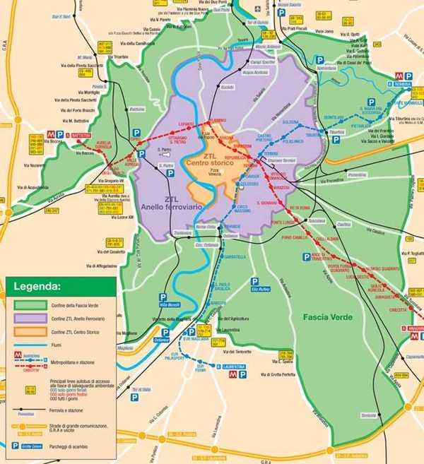 Cartina Dettagliata Fascia Verde Roma.Roma Blocco Diesel Euro 3 Giorni Orari E Chi Puo Circolare